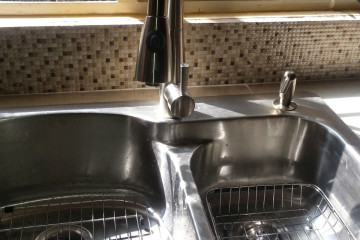 kitchen sink for domestic plumbing services